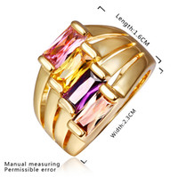 Wholesale lowest price Hot Sell k gold plated Rings TR424