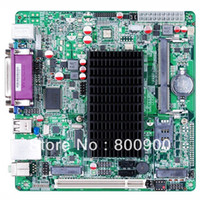 Wholesale MITX motherboard with Intel Atom D525 D425 N455 CPU Intel HBM supports dual VGA LVDS display RS232 serial Mini PCIE
