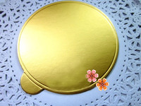 Wholesale 200pcs Round Golden cm Cake Card Paper Boards Mousse Packaging Base Decorating Tool Party Supply