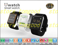 Sport Unisex Multiple Time Zone New Bluetooth Smart Watch U watch U3 For Iphone Samsung Smartphone Sports smart Wristwatch with Remote Camera Function