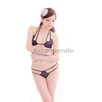 Zentai / Catsuit Costumes Men Food And Beverage New Sexy Lingerie Open Cup Bra Fashion Temptation G-String Thong Black Women