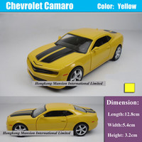 Wholesale 1 Alloy Diecast Metal Car Model For Chevrolet Camaro Bumblebee Collection Model Pull Back Car Toys Yellow