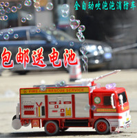 Multicolor Heart PA Children's toy car electric car automatic bubble machine blowing bubbles Fire bubbles toy car with light and music