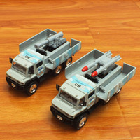 Cheap Alloy car models military trucks rocket missile launchers back door sound and light alloy military model toys