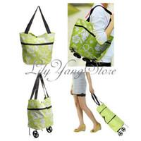 Cheap Trolley luggage bag Best Plain Canvas folding luggage