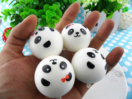 Wholesale New store Promotion Cute cm Panda Squishy Cell Phone Charm Bag charm PU With Fragrance