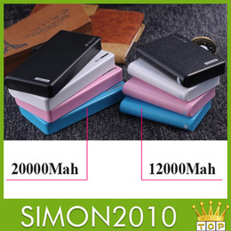 Wholesale Wallet style power bank Dual USB ports LED Flash light mah mah External emergency charger for HTC Samsung Nokia Mobile Phone