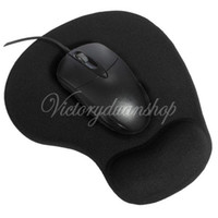Wholesale Black Comfort Fuction Silicon Wrist Rests Mice Mouse Pad Mat For Optical Trackball Mouse