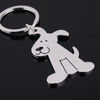 Wholesale 2014 High quality Key chain Spinning Cute Dog Keychain Key Ring Unique Key Chain keyrings zinc alloy Car key Chain