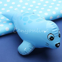 Unisex 0-12M Plastic Lovely Kawaii PVC Animal Inflatable Air-Filled Swimming Pool Shower Sea Lion Toys For Baby Children Kids Birthday Gift