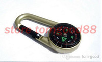 Wholesale 2pcs Mountaineering Buckle Portable Hanging Mini Military Camping Marching Compass Outdoor Equipment