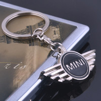 Wholesale Excellent Key chain logo key rings for mini cooper clubman others with black logo lockCar key Chain Brilliant car accessories