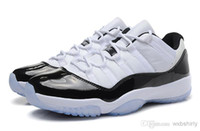 Wholesale FreeShipping air NEW cheap jordans XI retro concords low basketball running shoes air athletic shoes white black sneaker