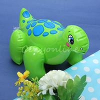 Unisex 0-12M Plastic Lovely PVC Animal Inflatable Air-Filled Swimming Pool Shower Dinosaur Toys For Baby Children Kids Boy Girl Birthday Gift