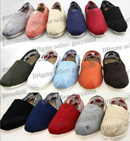 Slip-On canvas shoes - hot brand new women and men canvas shoes canvas flats loafers casual single shoes solid sneakers shoes shoe
