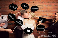 April Fool's Day Event & Party Supplies,Hat Yes New Product ! 8pcs lot Wedding ideas photo MINI CHALKBOARD SIGNS with SKEWERS Wedding Birthday Party Favor,Free Shipping