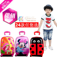 Wholesale Child trolley luggage bag travel bag luggage universal wheels abs cartoon