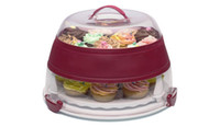 Wholesale Vintage Plastic Layer Cake Carrier Cupcake Taker Keeper Saver Container Boxes