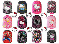 Wholesale Child eggshell hellokitty small trolley luggage bag travel bag hot selling luggage