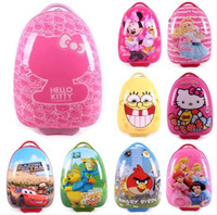 Wholesale Cartoon trolley luggage eggshell child travel luggage bag student school bag