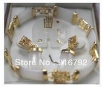 Jewelry Sets Fashion Yes Wholesale free shipping >>>>>Jewellery white jade Elephant pendant bracelet earring set
