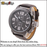 Sport Men's Round Hot Sale 2014 New Men Luxury Brand Sport Watches Military Army Watch Japan Movement Leather Strap Big Dial 30M Waterproof Watch
