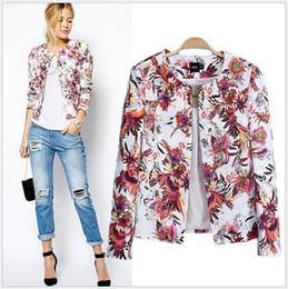 Wholesale 2014 women fashion Suits amp Blazers ladies casual cardigan jacket Floral print blazer Outerwear amp Coats upper garments women s clothing xd69