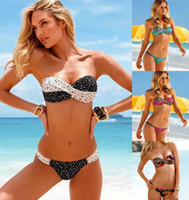Bikinis Set Polyester Polka Dot 2014 Women Bikini Set Swimwear Push up Brand Bathing Suits Bikini Retro Monokini Bottom Swimsuit swim suit