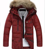 Men business clothing - 1PCS AFSJEEP Plus size Coat Big Fur Collar Down jacket British Business And Leisure Men s long Eiderdown outerwear Men s Clothing