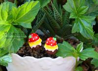 Bamboo Resin zakka Zakka strawberry chocolate cake bryophytes decoration outdoor garden decor yard ornaments artificial plants for garden resin
