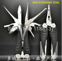Combination Pliers Stainless Steel Fishing WholesaleFree shipping,professional folding multifunctional fishing tool set with carry case SWISS knife outdoor tool407
