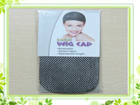 Wholesale ELASTIC fashion cool mesh weaving wig cap hair net In Retail Package Packs