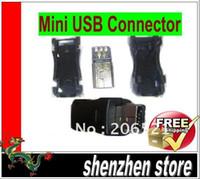 DLP mini usb plug Male 5pcs Mini-USB Mini USB Male Connector Adapter Plug Plastic Shell 5pF DIY New free shipping airmail