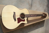 Wholesale Chinese guitar Acacia wood TOP Singlecut acoustic guitar with pick up built in EQ