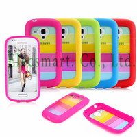 For Apple iPhone Metal Yes Colorful Rainbow Alternative Stripe TPU and Hard Plastic Hybrid Case Cover Shell for Samsung Galaxy S3 III mini i8190