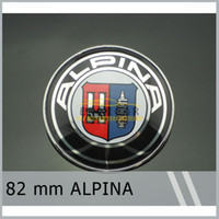 20x 82mm ALPINA Chrome Bonnet Hood Emblem Badge E9 E21 E28 E...