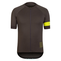 Wholesale New Rapha ProTeam Cycling Jersey Fashion Breathable Men Racing Jersey Brown Bike T Shirt Wicking Anti shrink Clothing Polyester Fabric