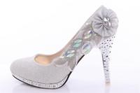 Wholesale 2014 Hot New Fashion Ivory White Luxury Comfortable Diamond Bridal Wedding Dress Shoes