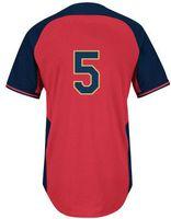freeman - National League All Star Freddie Freeman Red Baseball Cool Base Jerseys Authentic Stitched Jersey Softball Sportswear