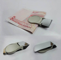 Wholesale DIY Blank Money Clip Walle Money Holder Silver Stainless steel
