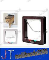 Wholesale Useful Way Small Pet Cat Kitten Dog Supply Lock Lockable Safe Flap Door Cat Pet Flap Door MYY9452