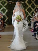 Wholesale layers Ivory Bridal Wedding Veils Net Meters Long Meters Width Free comb Flowers Leaves pearl Beads