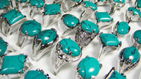 Wholesale Cool Fashion New jewelry women s turquoise silver plated rings LK073