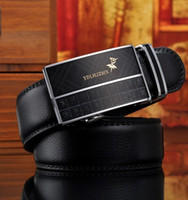 Wholesale High end men s leather brand belt Han edition style automatic buckle leather belt