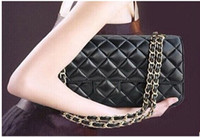 designer leather handbags - 2014 new famous brands c bag designer leather handbag Fashion Women s Double Flap Bag Quilted Lambskin chain Bag