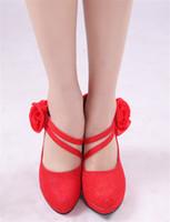 Women Pumps Kitten Heel Wholesale Cheap New High Heels Red Bine Design Bridal Shoes Evening Prom Accessories Hot