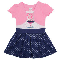 Wholesale MN Peppa pig dress Children baby girls clothes peppa girls dress kids apparel for girl H4371