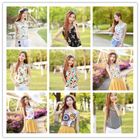 Women Tank Top Floral S-XXL New style Women camis Casual Chiffon Vest Top tee Tank girl lady Sleeveless T Shirt Blouse top