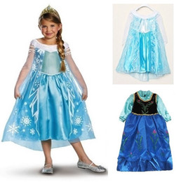 Wholesale In stock Fashion Frozen Princess Anna Elsa Sofia long Sleeve Children Pompon Baby Girl PartyTutu lace Sequins Dresses LY H