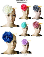 Wholesale 15cm SOFT silk flower for millinery church hat sinamay fascinator with brooch pin hair clip colours can pick the color